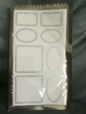 CVS BRAND WHITE STICKER LABELS (38 TOTAL STICKERS) - NEW IN PACKAGE