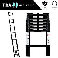 BLACK Portable Telescopic Ladder 3.8 m & Carry Bag Caravan RV Parts Accessories