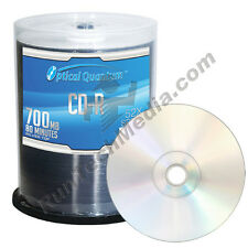 600 Optical Quantum 52x 80 min / 700 MB CD-R Shiny Silver Blank Media Discs