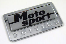 Motosport Edition Chrome Emblem with domed decal motorcycle bike Badge