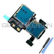 for Samsung Galaxy S4 SIV i9505 i9500 sim card micro sd reader slot flex cable