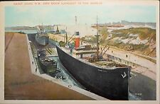 Saint John, N.B.Dry Dock (Largest in the World), Ship Canadian Tinted Postcard