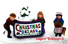 Dept. 56 Christmas Bazaar Sign Set of 2 Retired New England 56598
