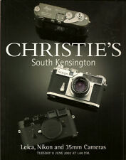 CHRISTIE'S CAMERAS Leica Nikon Zeiss 35mm Auction Catalog 2002