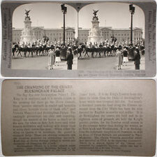 Keystone Stereoview Changing of Guard in London, ENGLAND From RARE 1200 Card Set