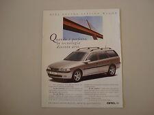 advertising Pubblicità 1997 OPEL VECTRA STATION WAGON