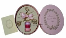 Auth LADUREE Keychain Ring M Eiffel Tower Macaron Charm in Pink Gift Box MARK'S