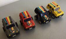 VINTAGE 80s#4x PULL BACK CAR CARS ALES AL-ES  SPACE ONE  CAR SPACE1