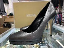 $140 Michael Kors Antoinette Pumps Sparkle Metallic Anthracite Heels; Size:7M