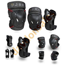 Pads Gear Bike Knee Elbow Wrist Guards Protective Set Bmx Outdoor Safety Skating