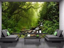 Beautiful Green Forest  Photo Wallpaper Wall Mural DECOR Paper Poster Wall art