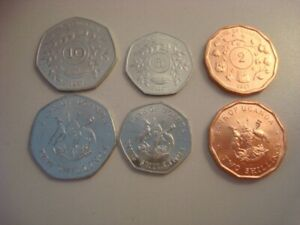 SERIE SET UGANDA 1987 (2,5 y 10 Shillings) SIN CIRCULAR / UNC