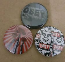 Obey badge set street art graffiti