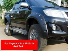 BLACK FENDER FLARES WHEEL ARCH WITH NUTS TOYOTA HILUX 2012-14 DOUBLE CAB 2X4