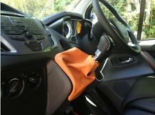 ORANGE LEATHER MANUAL GEAR GAITER COVER FITS FORD TRANSIT MK8 2014+