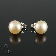 Pink Pearl Stud Fine Earrings