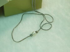 VINTAGE AVON STERLING SILVER CHAIN NECKLACE WITH FAUX PEARL STONE