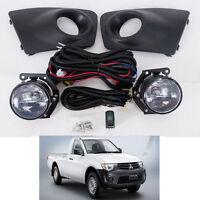 For 09-14 Mitsubishi Triton L200 Pickup Ute Fog Lamp Light Spot Light Kit