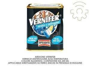 Vernifer vernice + antiruggine alta temperatura colore Alluminio 250 ml applicaz