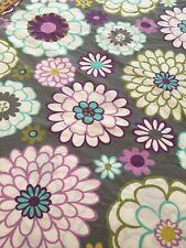 Pottery Barn Teen Full/Queen Duvet Cover & 2 Shams Cotton grey Pink 86x86