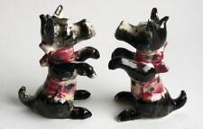 Pair 2 Vintage Sitting Pretty Pioneer Mdse Scottish Terrier Dog Figurines Japan