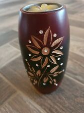 Wooden Candle Diamante Sparkle Tea Light Holder