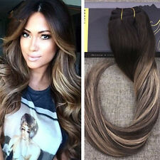 100% Brazilian Remy Clip in Human Hair Extension Ombre Balayage Hair Extension