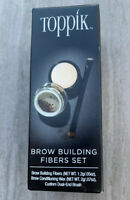 TOPPIK Brow Building Fibers Set. Dark or Light Brown for Eyebrow. New in Box.