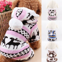 Pet Clothes Warm Dog Sweater Soft Puppy Hoodie Cat Jumper For Teddy Chihuahua