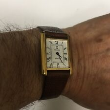 ROLEX TUDOR SWISS Vintage Men's Wind Up Watch-18K Gold Plated 17J Looks Great!