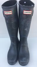 "Hunter Original Tall Rainboots ""Festival"" Print Wellies black Size 7"
