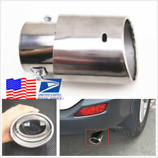 Universal Car Exhaust Tail Throat Tip Pipe Chrome Trim Tip Muffler Silencer Pipe