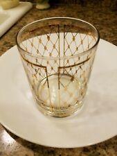 Vintage Georges Briard Mid Century Modern Drinking Hi Ball Glass Diamond Pattern