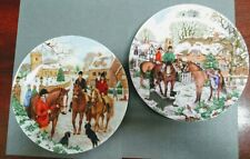 Two Limited Edition Wedgwood Christmas Companions Plates