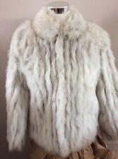 GORGEOUS!! Women's SAGA Vintage NATURAL BLUE FOX Medium FUR Coat JACKET Norway