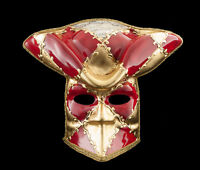 Maschera Casanova Di Venezia Bauta Rosso Carnevale Ballo Veneziano VG13 1470