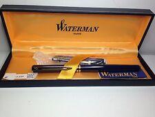 Vintage NIB Waterman Paris Ideal Fountain Pen Burgandy W/Gold Box Ink Manual