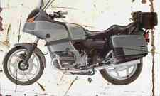 BMW R100RT Classic 1995 Aged Vintage Photo Print A4 Retro poster