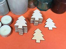 WOODEN CHRISTMAS TREE Shape 5cm (x20) laser cut  wood shapes
