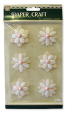 PAPERCRAFT PINK AND WHITE FLOWERS  FOR CARDS AND CRAFTS