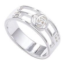 Markenlose aus echtem Edelmetall Ringe ohne Steine im Band-Stil für Damen