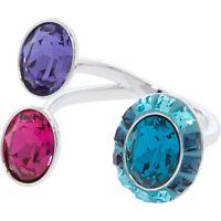 Swarovski Triple Jewel Silver Tone Open Eminence Ring  RRP £83.00