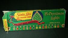 Vintage 1950s Santa Lites Multi-Color Christmas Lights