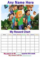 Personalised Childrens A4 Reward Behaviour Mine Chart Craft And Stickers! (2)