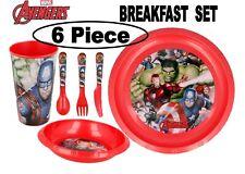 Marvel Avengers 6Pc Breakfast Set Inc Plate,Tumbler, Bowl,Knife,Fork and Spoon
