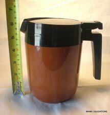 Vintage Rubbermaid 3343 Insulated Coffee Beverage Pitcher 18oz Black/Brown