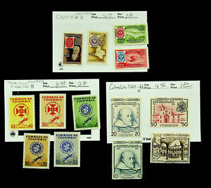 COLOMBIA WORLD UNITED AGAINST MALARIA POSTAGE STAMP CENTENARY 13v MH CV $15.40