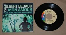 """GILBERT BECAUD Mon Amour 7"""" & PICTURE SLEEVE on Liberty PROMO"""