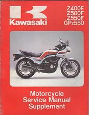 1983-84 KAWASAKI MOTORCYCLE  Z400F/Z500F/Z550F SERVICE MANUAL SUPPLEMENT (190)
