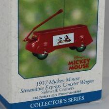 1937 MICKEY MOUSE COASTER WAGON Disney & Hallmark Christmas Ornament New 2002 #6